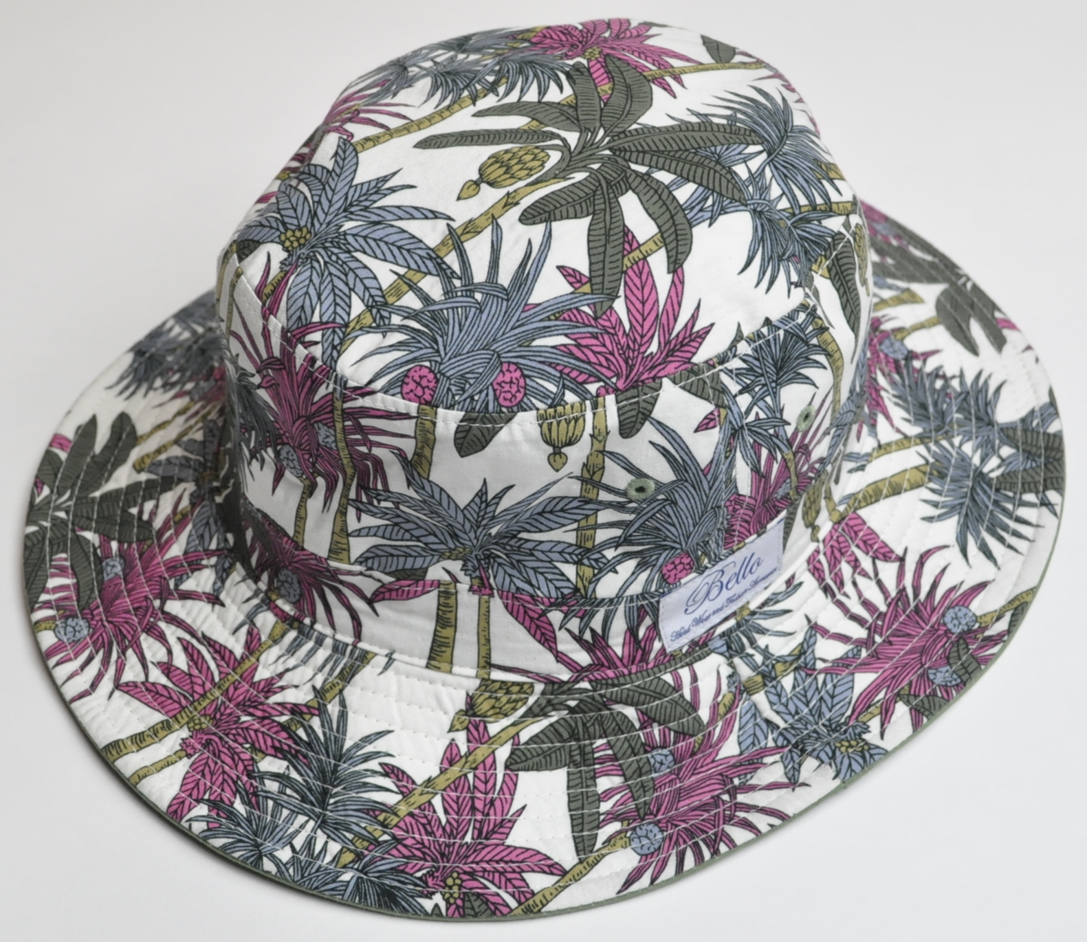 BelloPALMTREE REVERSIBLE BUCKET HAT